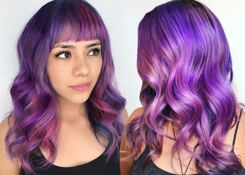 The Best Inspiration Colour Designed Lavender Hairs Style