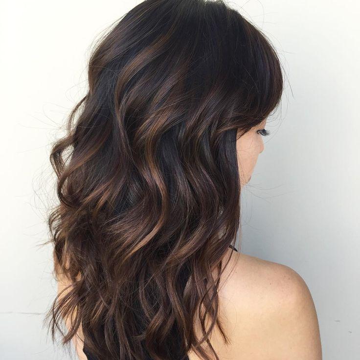 10 Ideas for black hair with highlights