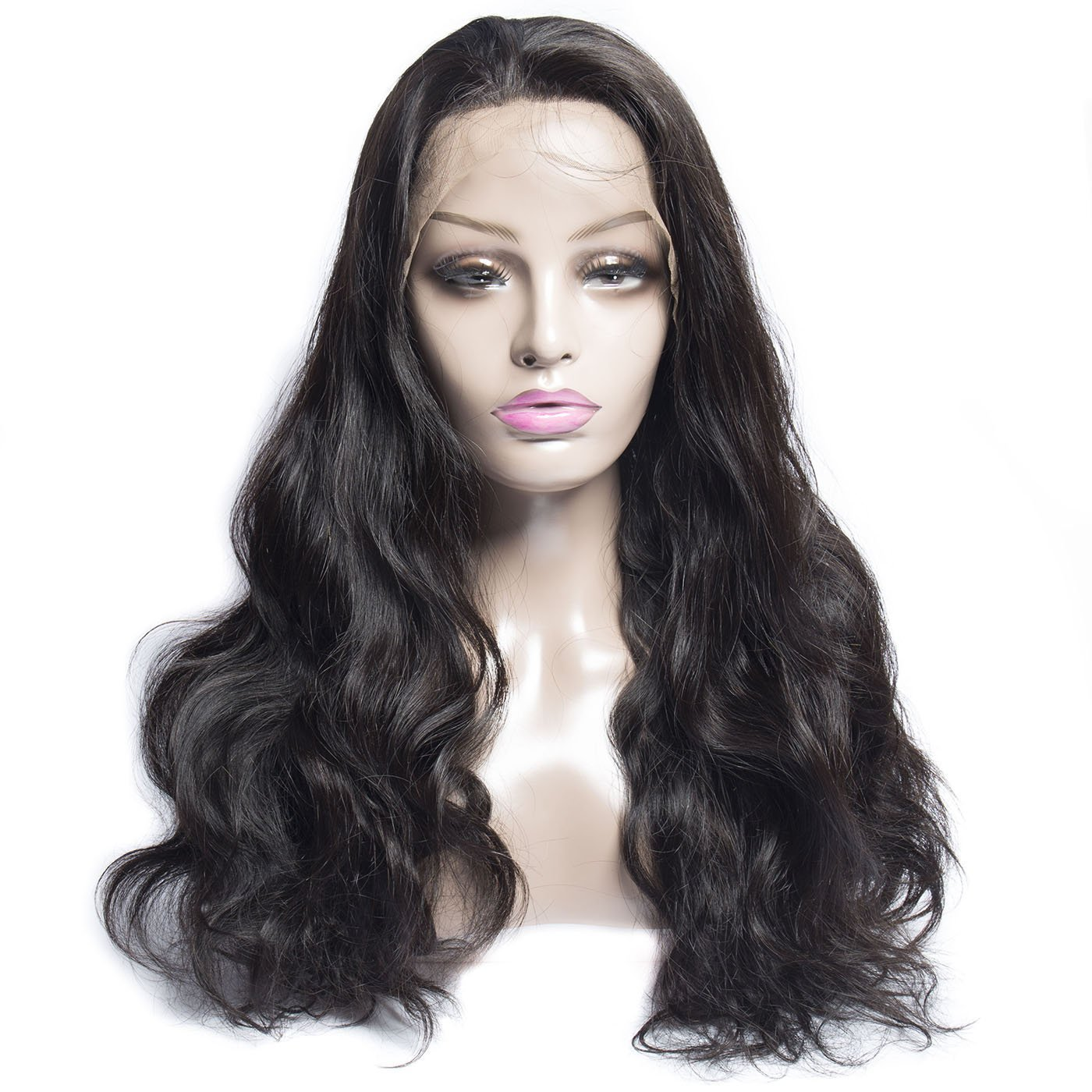 Human and synthetic black wig for all type hair