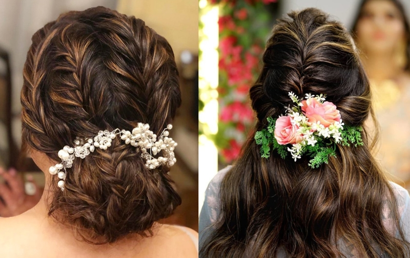 Wedding day Bridal Hairstyle for Beautiful Bride
