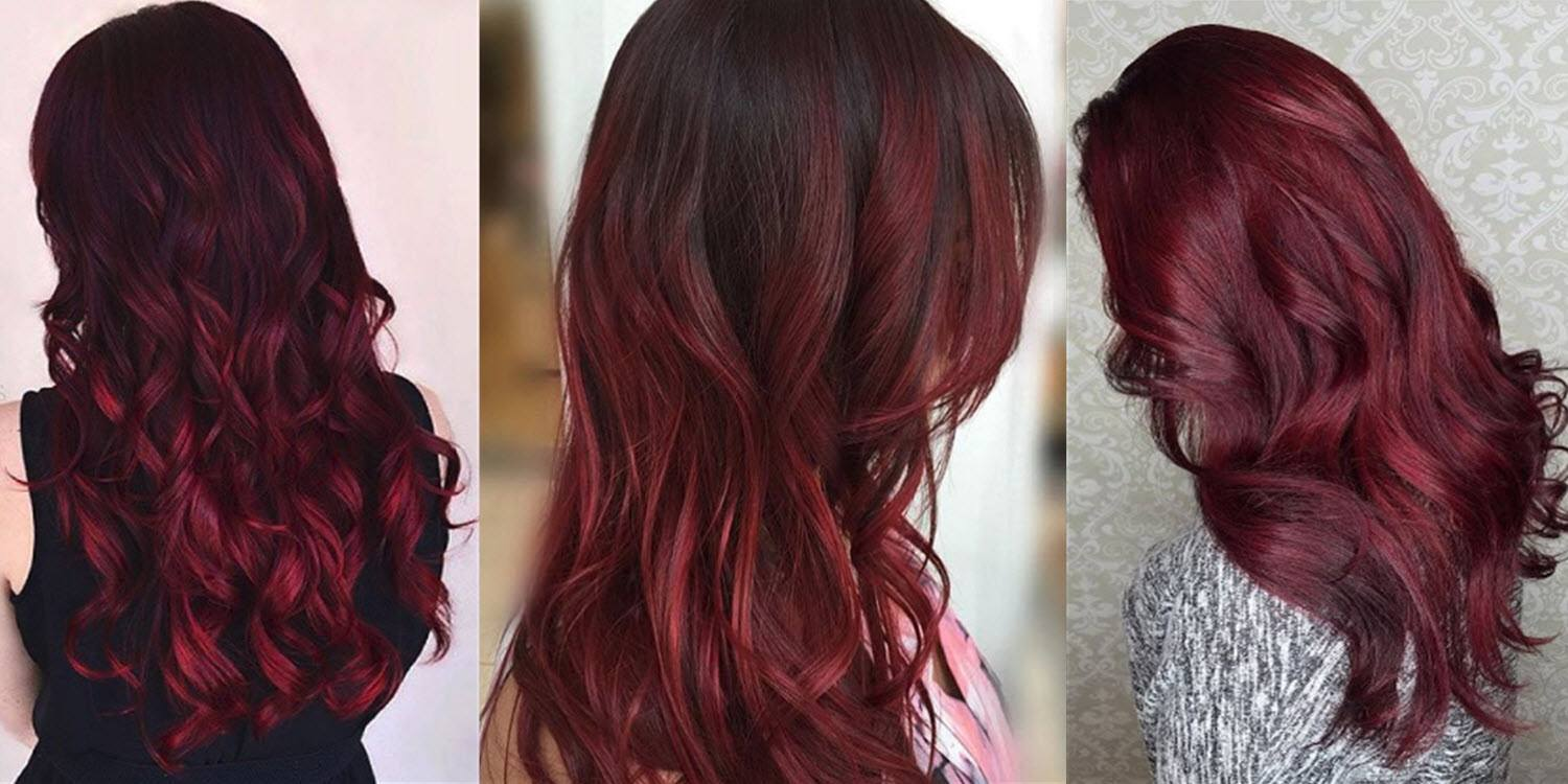 10+ Burgundy hair color shade ideas