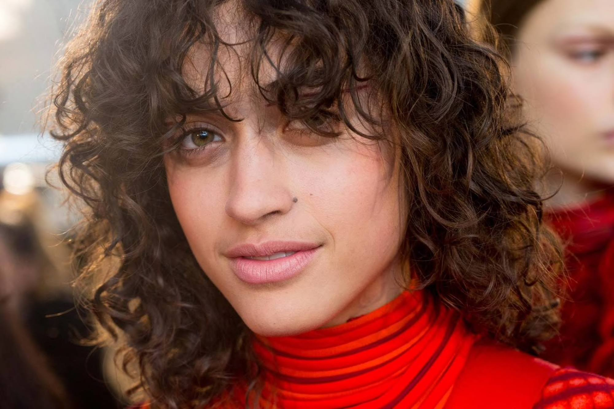 Awesome Curly Hair with Bangs Hairstyle ideas