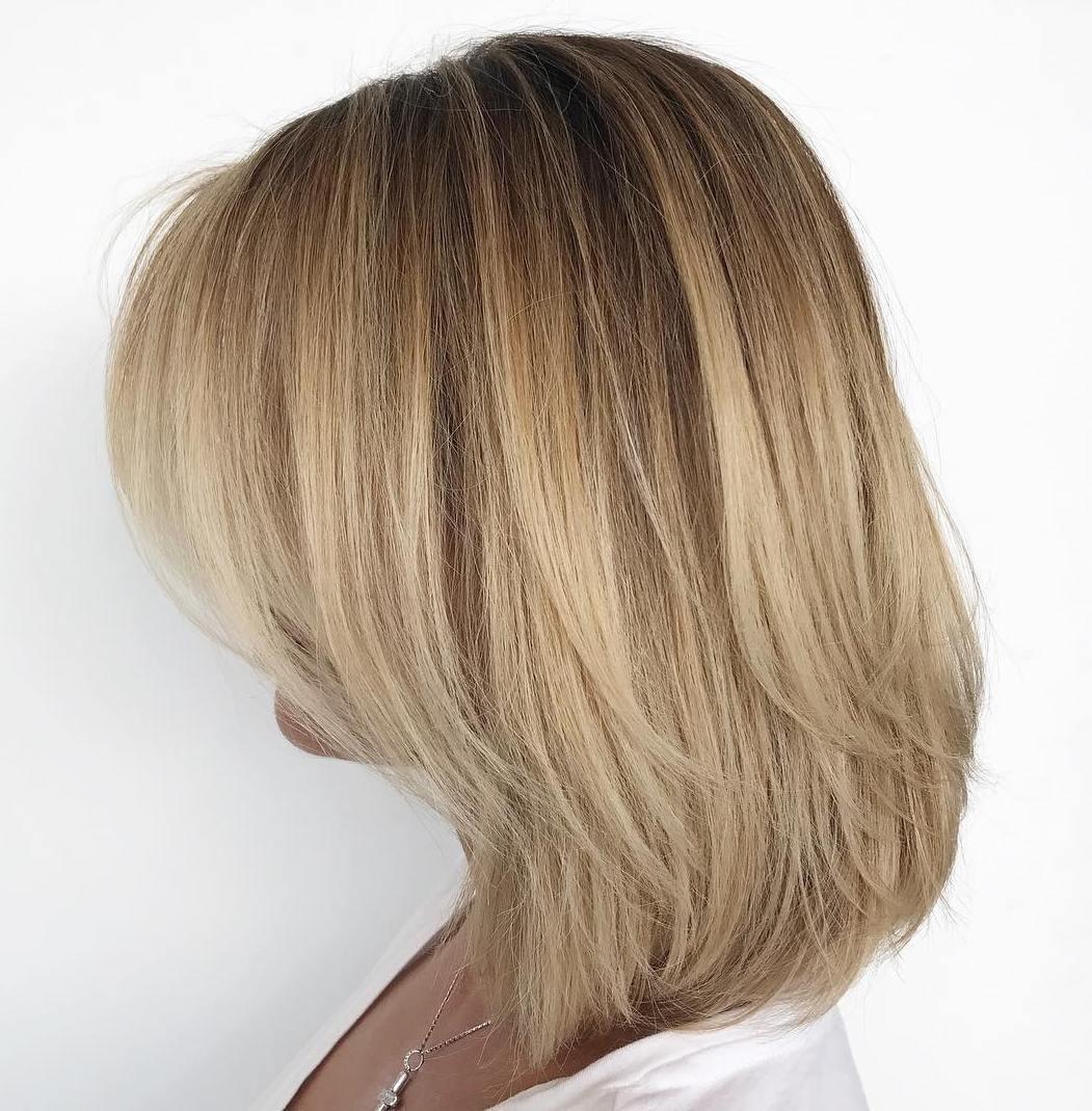 10+ super cute medium layered hair trend