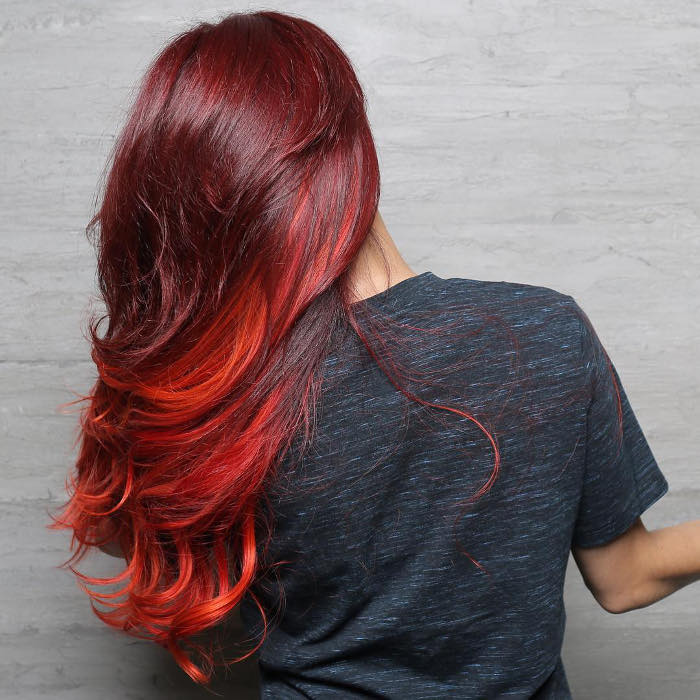 2019 Unique Red Ombre Hair Ideas for Women