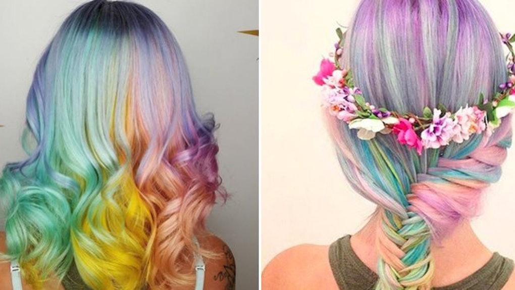 10+ Magical Unicorn hair color shade ideas