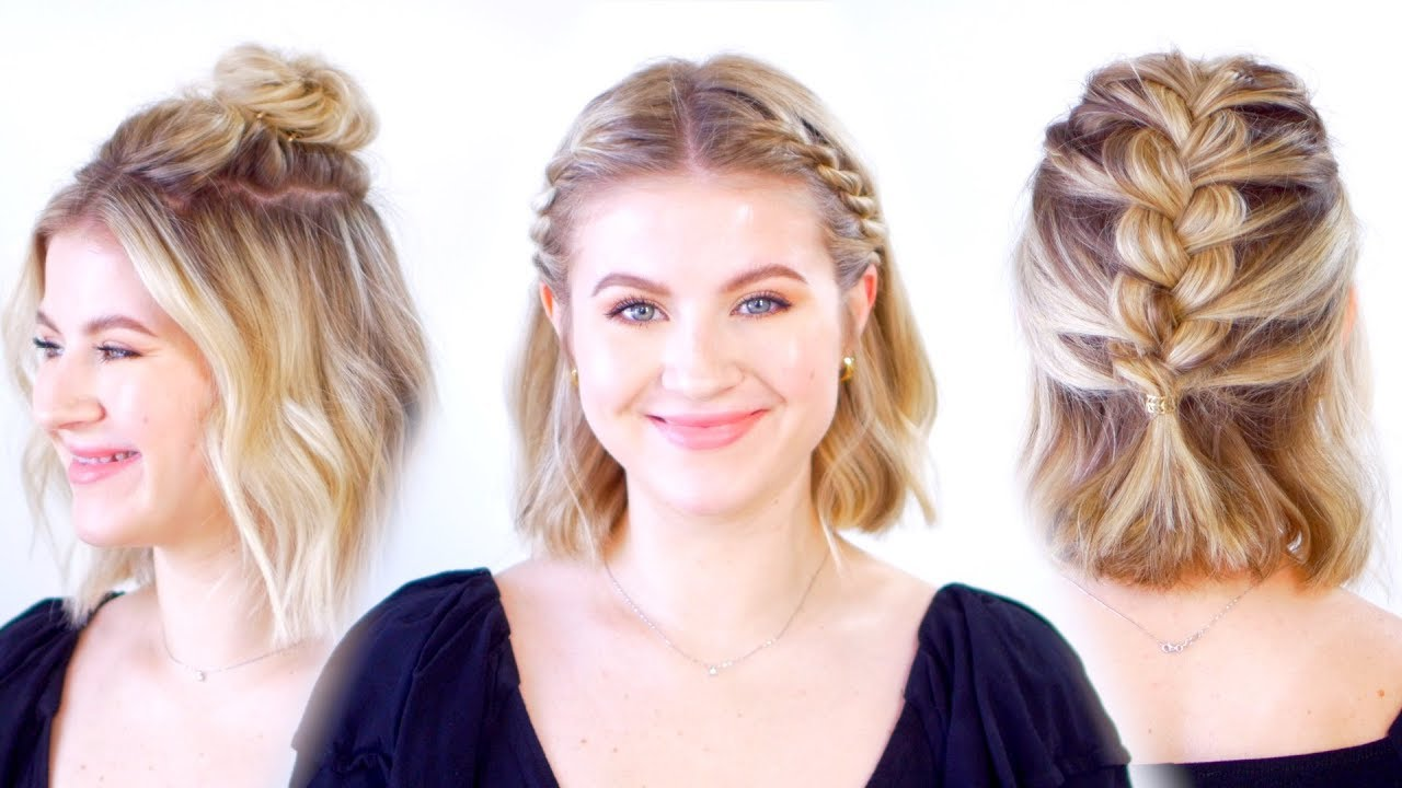 10+ Beautiful Updos for short hair girls