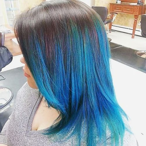 Blue Ombre Hair – A Quick And Easy Process