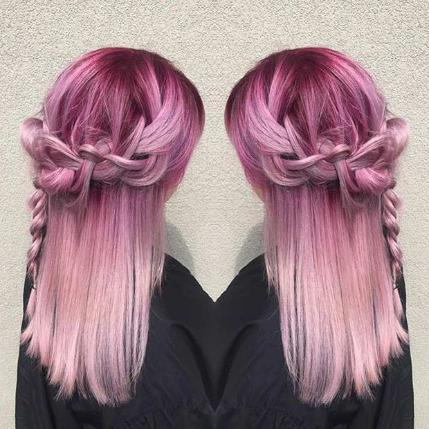 Pastel Pink Hair Color – The Perfect color For Women