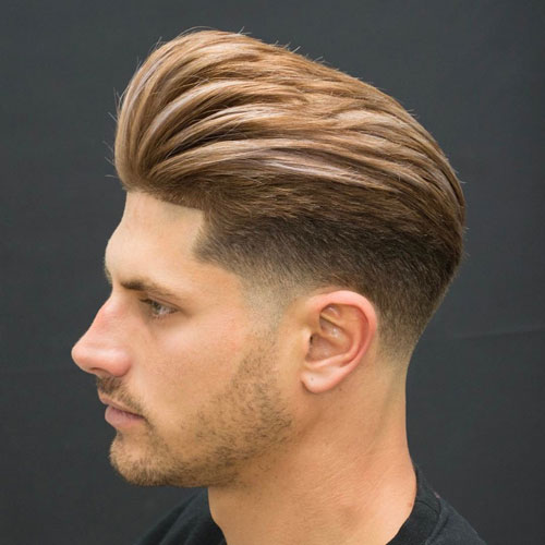 Latest Modern Hairstyle Of Pompadour Haircut