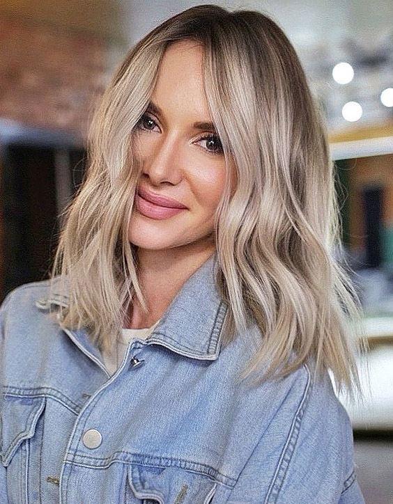 Medium Blonde Hair Design Ideas For Women Over 50