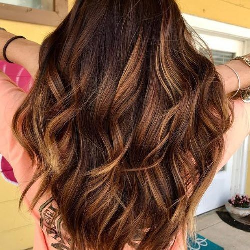 Using Brown Hair With Caramel Highlights