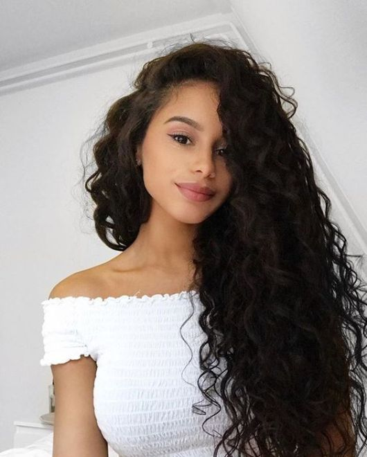 Creative Curly Hair Style