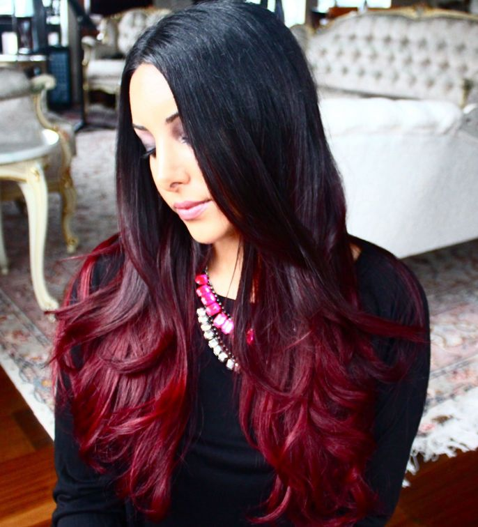 How To Choose A Great Red Ombre Hair Style