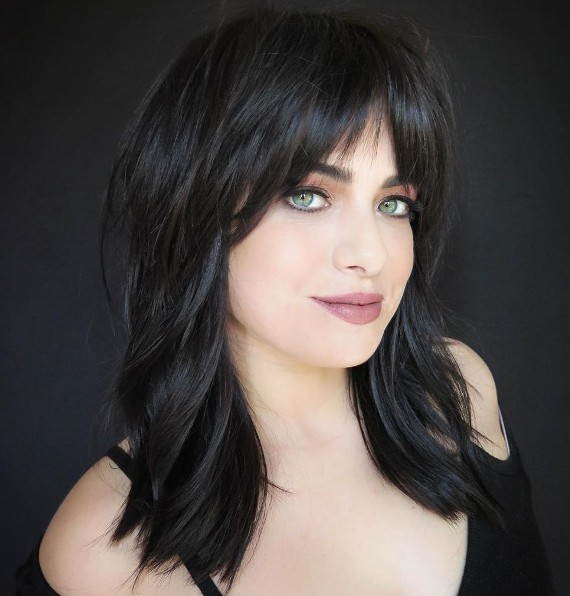 Hair Cut Ideas for Shoulder Length Hair With Bangs