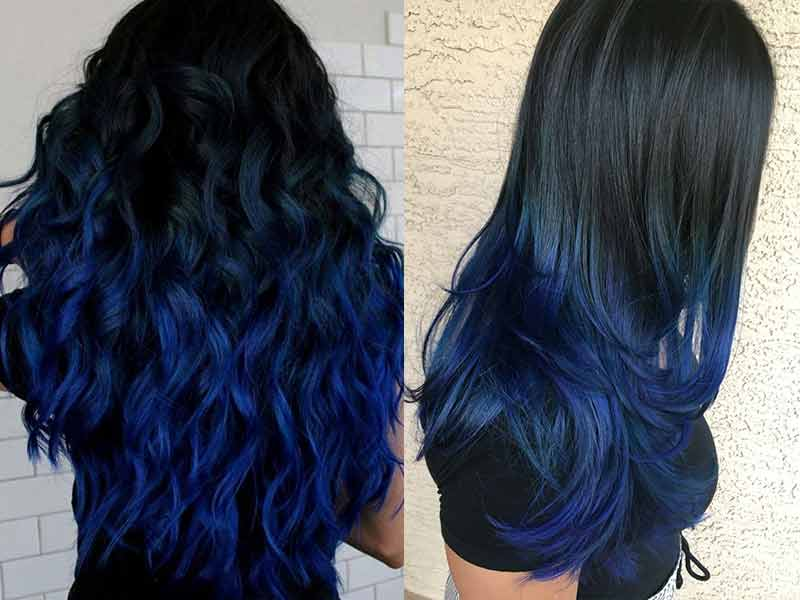 Hairstyles for Women With Navy Blue Hair