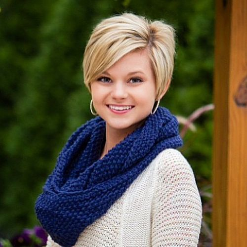 Gorgeous Short Hairstyles for Round Face