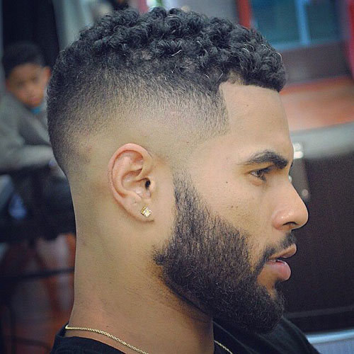 High Fade Black Haircut styles Design Ideas
