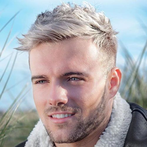 Pattern for Men With Really Wacky Blond hairstyles