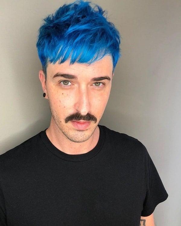 Hair Color Ideas For Men With Blue Hair