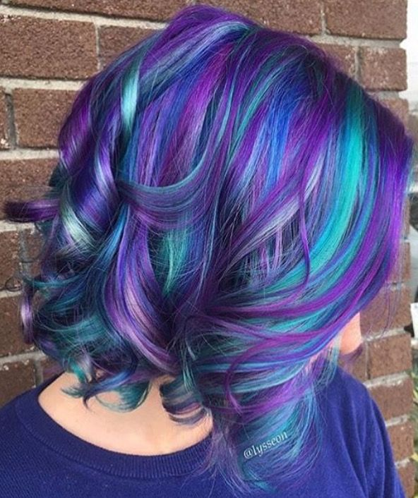 This Is A New Blue Purple Hair Design You Don't Want To Miss