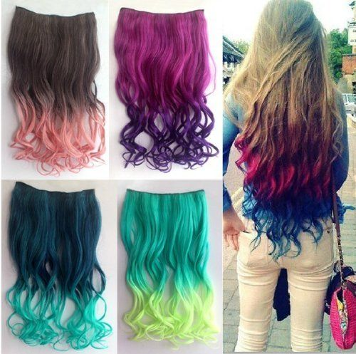 Model Ideas – Colored Hair Extensions