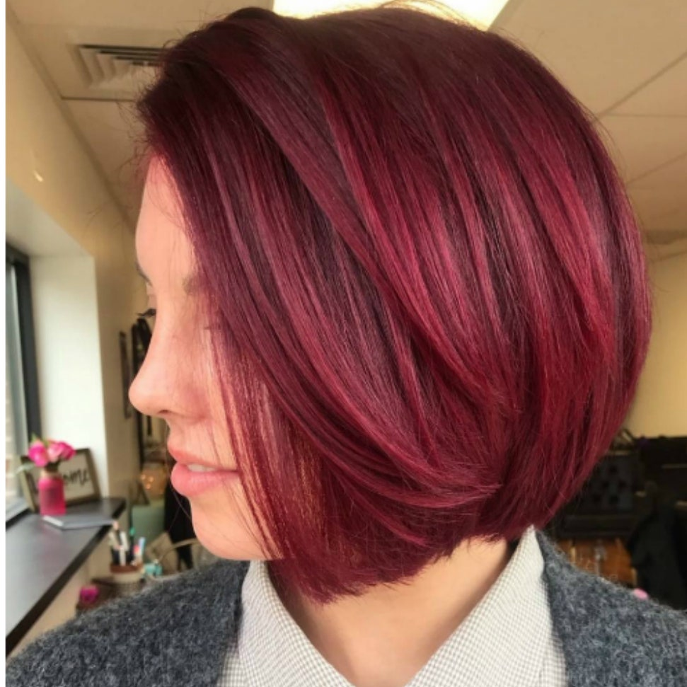 Natural Cranberry Hair