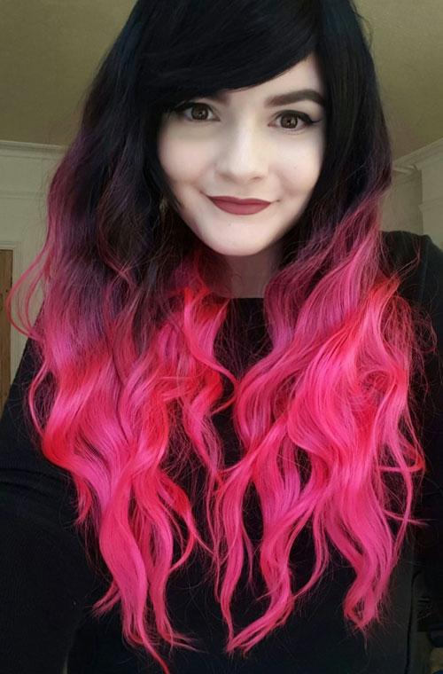 Styles For Dark Pink Hair