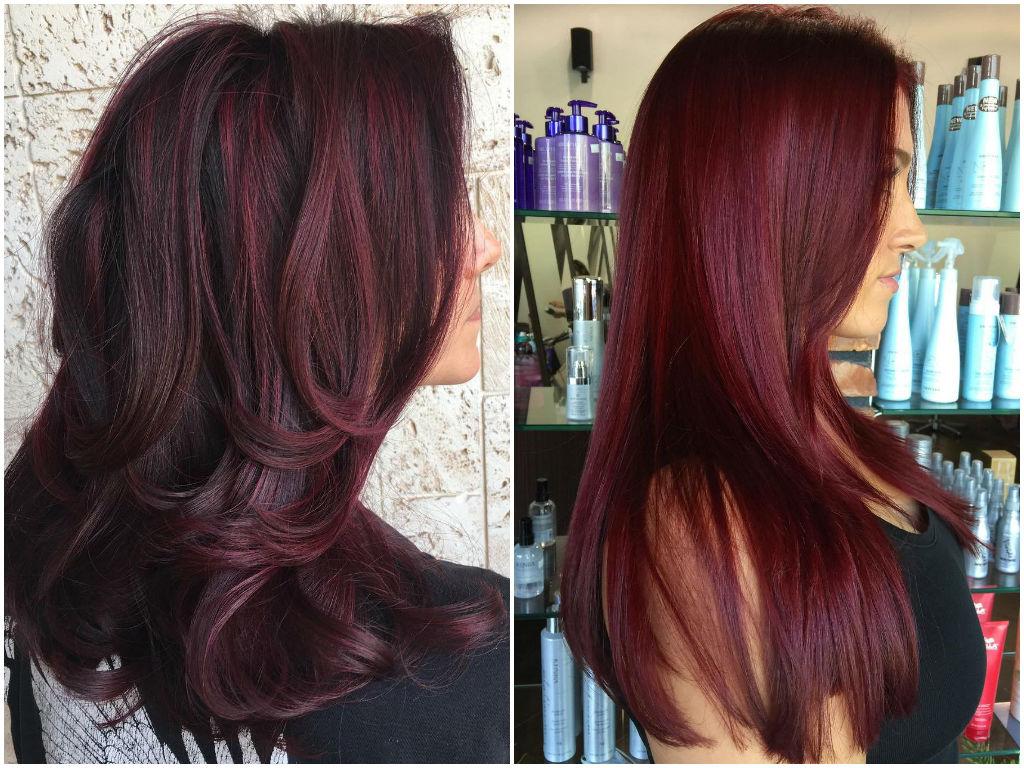 Deep Burgundy Pattern for Black Hair