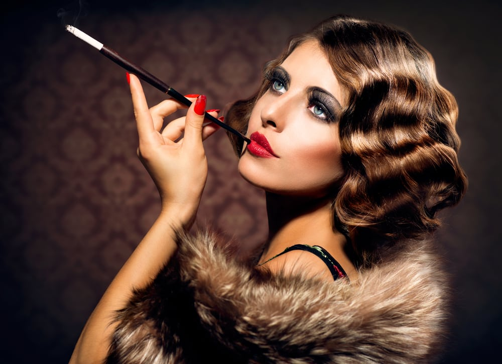 Attractive Style Using the Finger Wave Hair Design