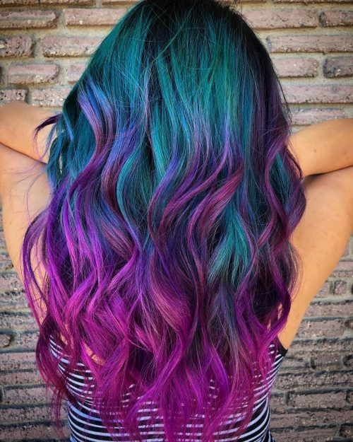 Galaxy Hair Color is a Popular Choice For Today's Young Adults