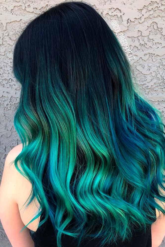 Green Ombre Hair Design Ideas