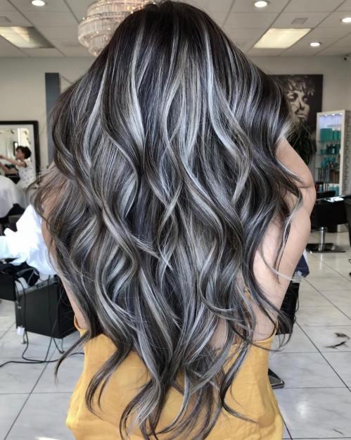 Beautiful Grey Hair Highlights