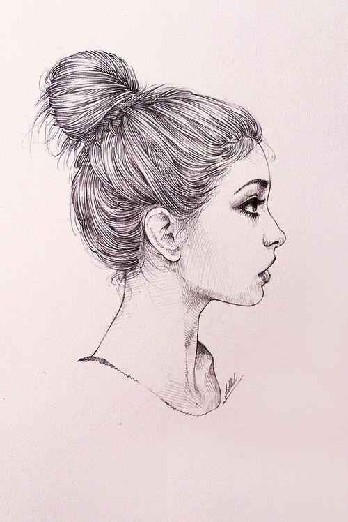 Unique Style Hair Sketch