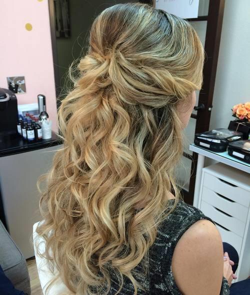 Half Up Hair Design