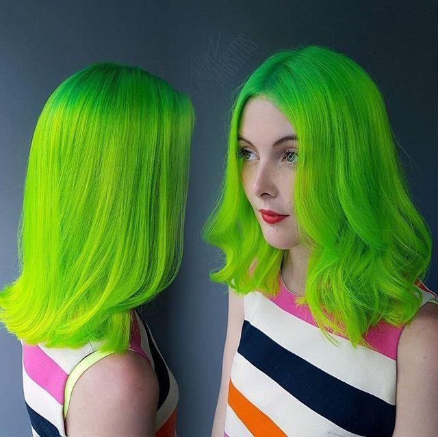 A Few Simple Lime Green Hairstyles