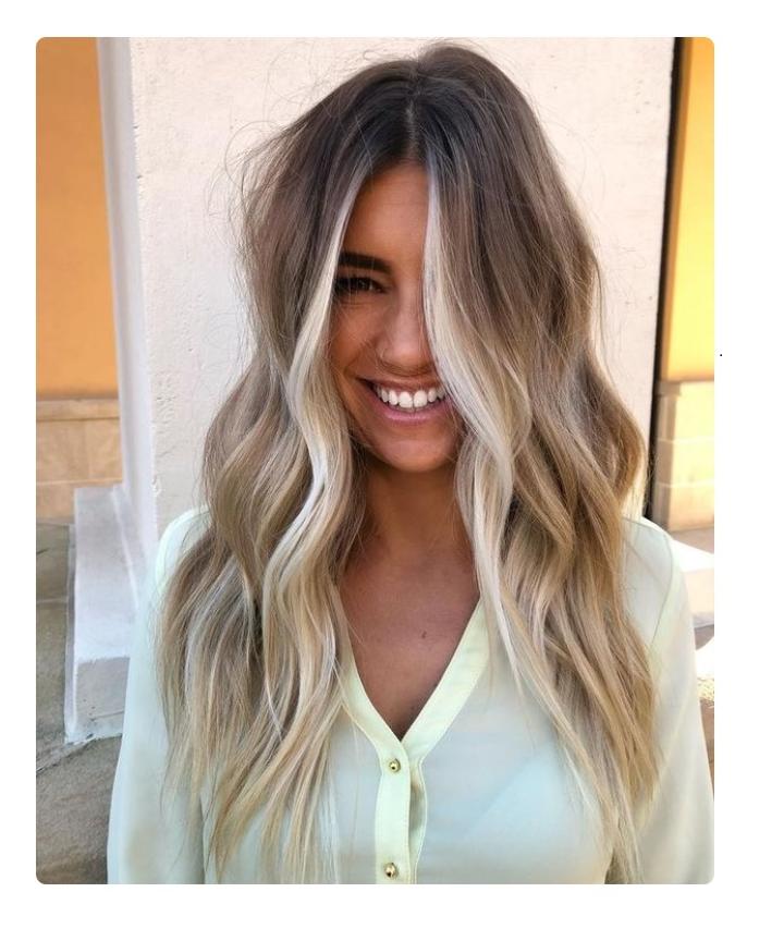 Money Piece Hair application of Hair-highlighters