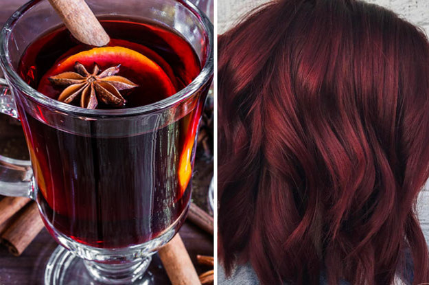 Beautiful Mulled Wine Hair Style