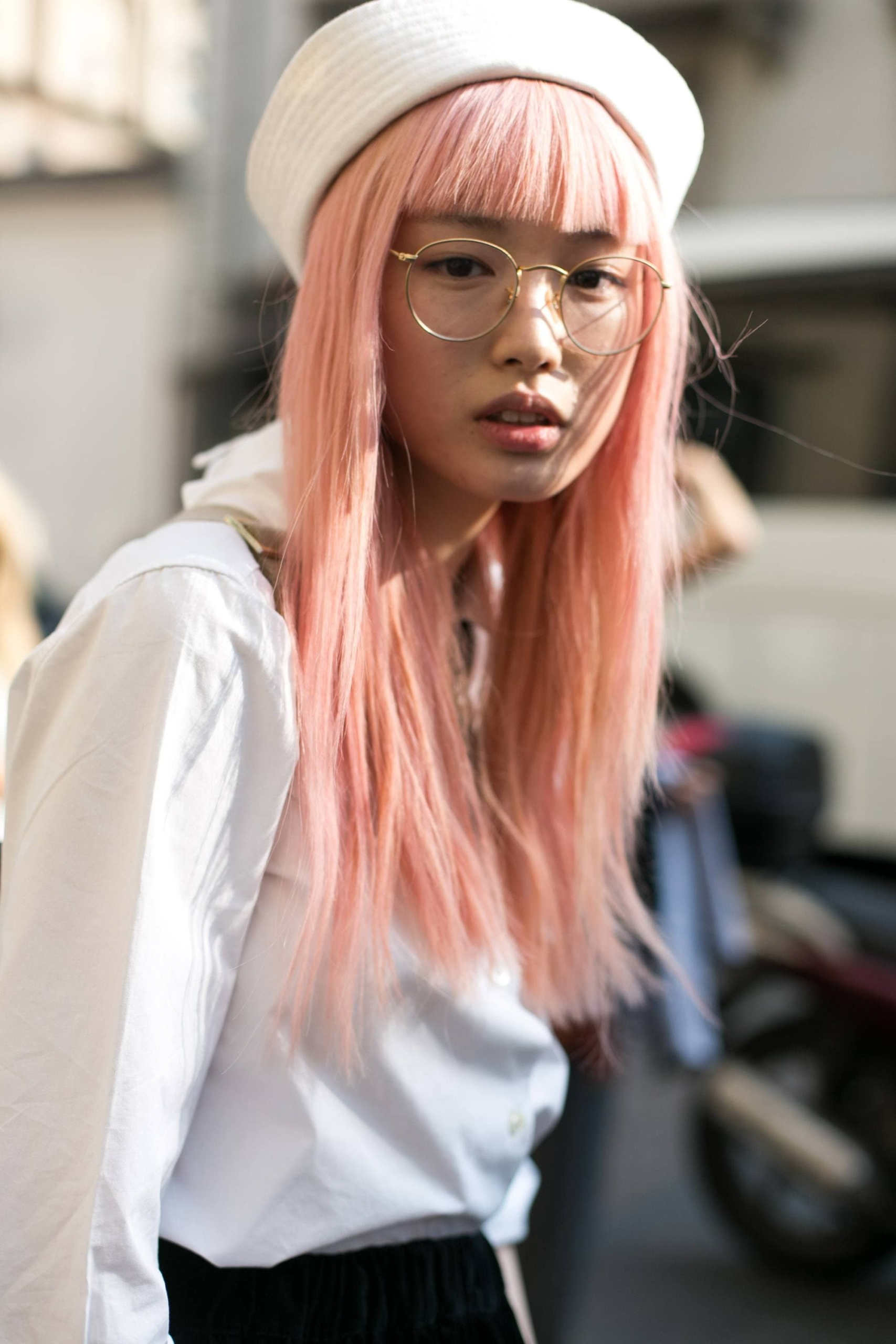 Peach hair color is definitely one of the boldest