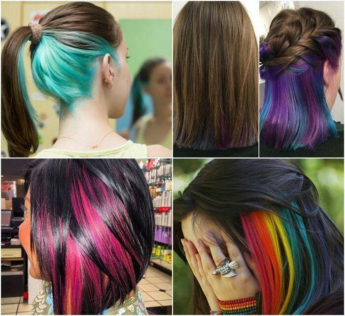 Beautiful Hairstyles With Peekaboo Hair Color