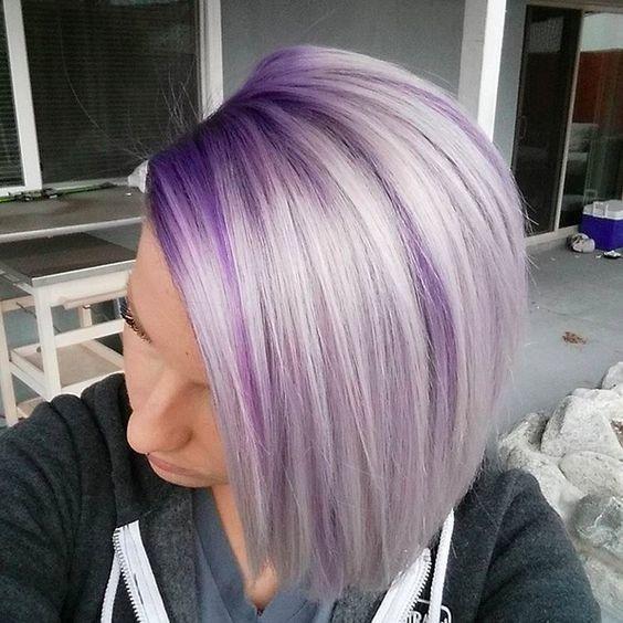 Model Ideas For Platinum Purple Hair