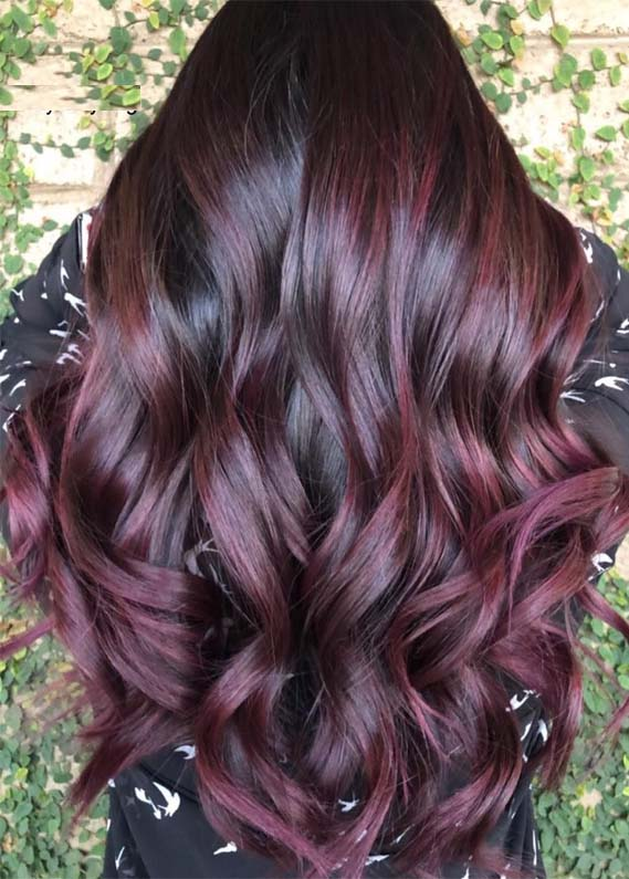 Beautiful Pattern for Women – Plum Hair Color