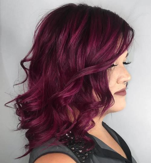 Purple Burgundy Hair Design Ideas for This Season