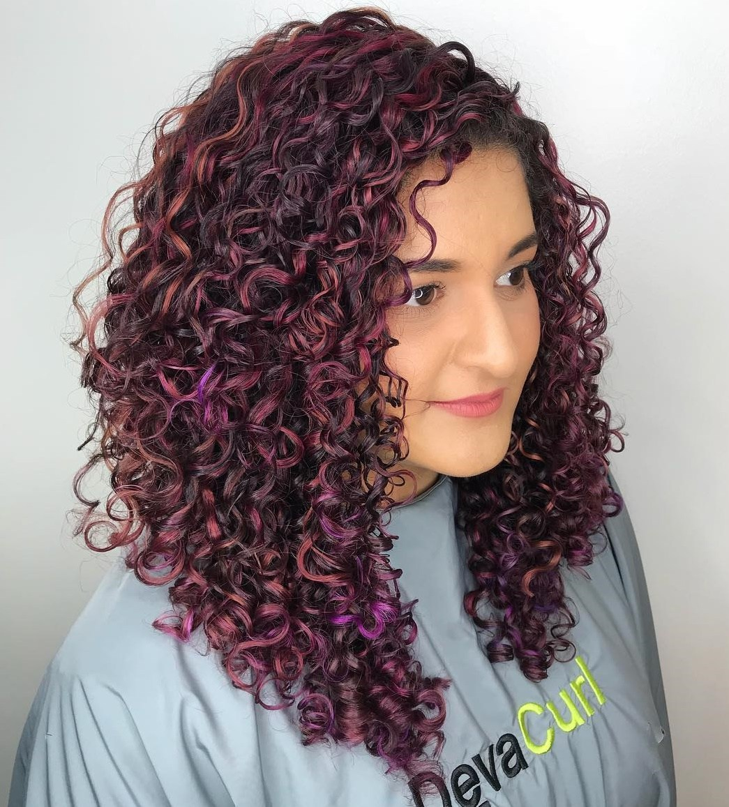 Purple Curly Hair Style – Latest Style Trend For 2021
