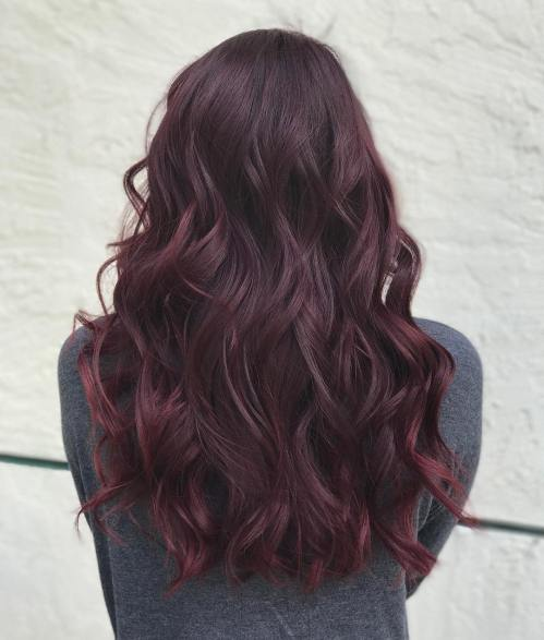 The Latest and Trendiest Red Black Hair Design Ideas