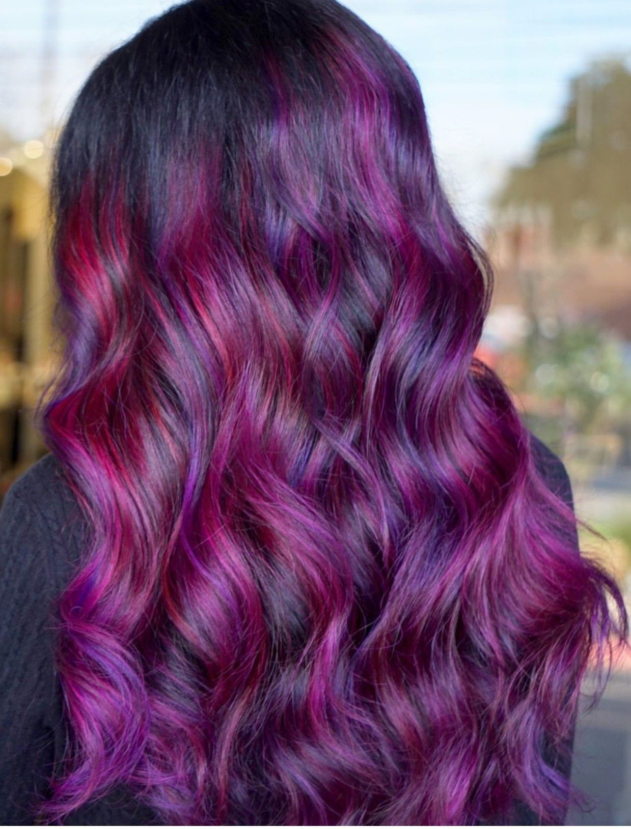 Some Great Design Ideas For Red Purple Hair
