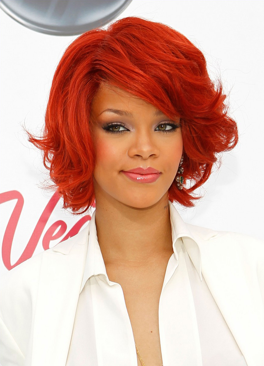 How to Choose Your Favorite Celebrity Rihanna Red Hair Color When You Are a Big Girl