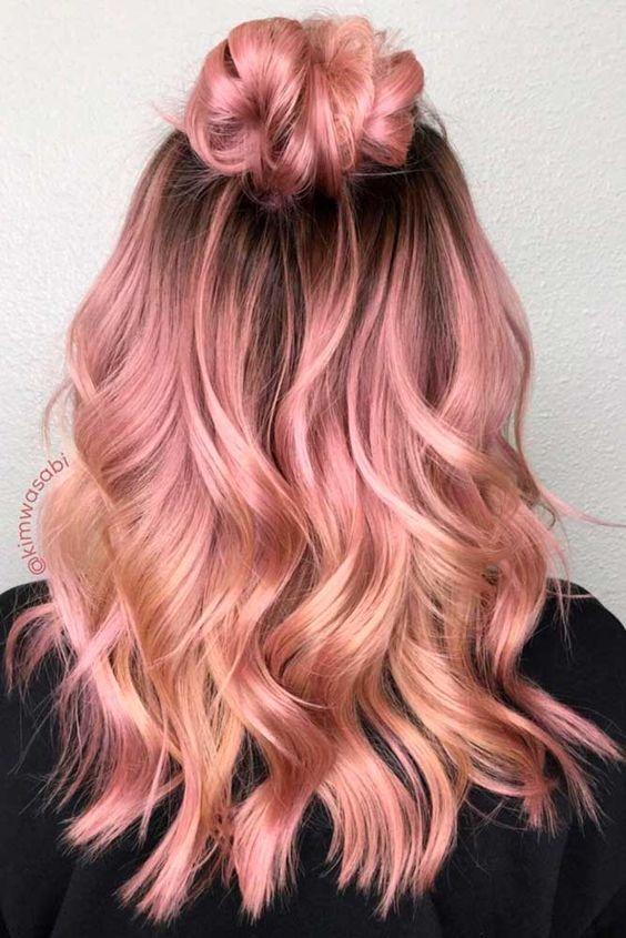 Hair Color Trend – Rosegold Design Ideas