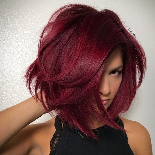 Short Burgundy Hair Model – Latest Hairstyle