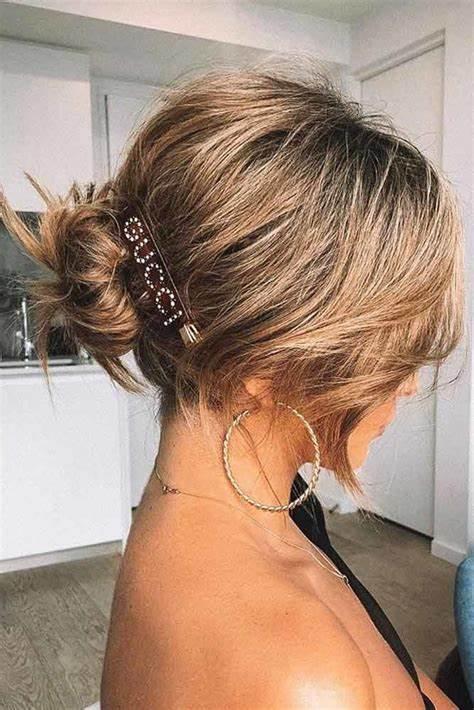 How to Style Short Hair Bun?