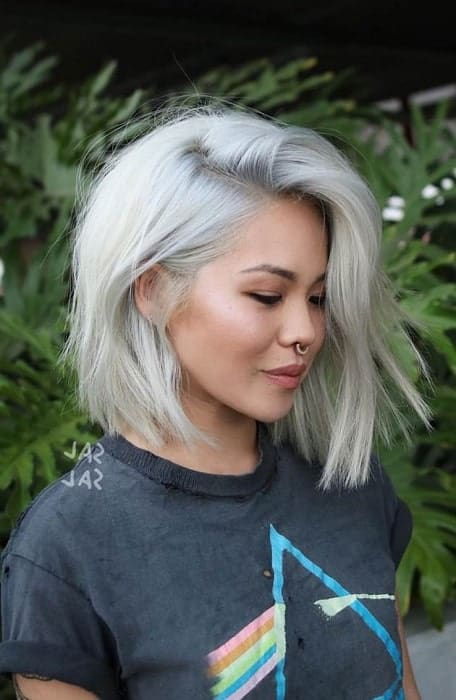 Latest Design Trends With Short Platinum Hair Style